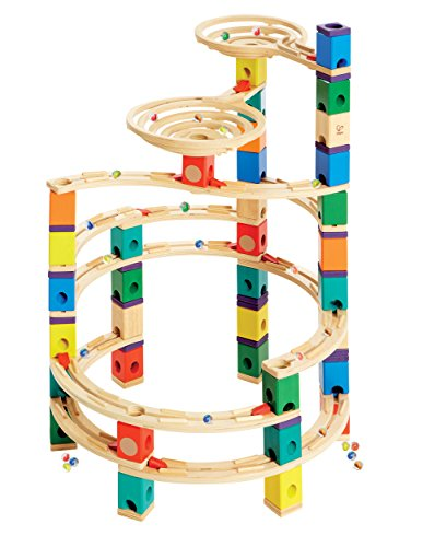 Hape Quadrilla Wooden Marble Run Construction – Cyclone – Quality Time Playing Together Wooden Safe Play – Smart Play for Smart Families