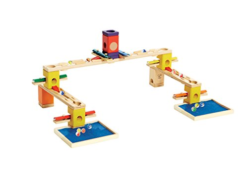 Hape Quadrilla Wooden Marble Run Construction – Music Motion – Quality Time Playing Together Wooden Safe Play – Smart Play for Smart Families