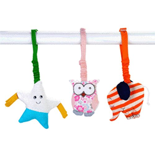 Set of 3 Under the Nile Organic Scrappy Stroller Toys