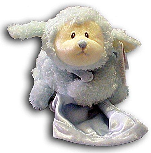 Prayer Fluffles Lamb Blue 10.5″ by Gund