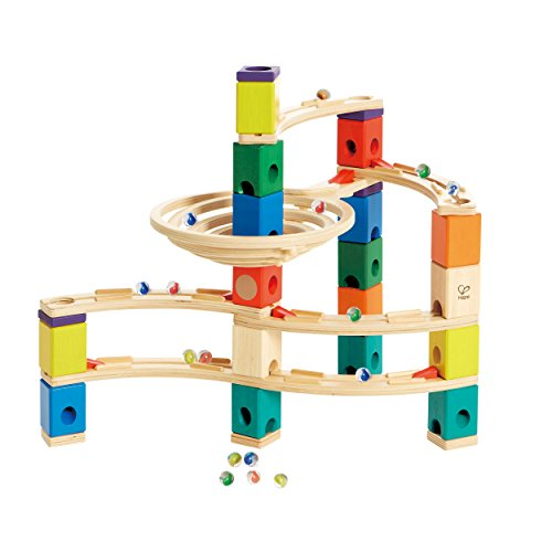 Hape Quadrilla Wooden Marble Run Construction – Whirlpool – Quality Time Playing Together Wooden Safe Play – Smart Play for Smart Families