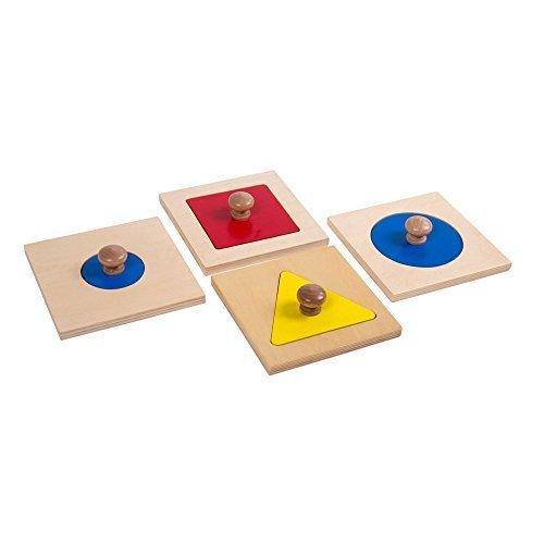 Montessori Materials Geometric Insets Shape Puzzles Toddler Preschool Toys