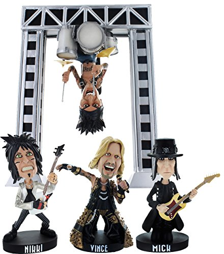 """Motley Crue 8.5″ Resin Bobblehead Statue """"All Bad Things Must End"""" Exclusive Box Set with Big Drum Rig"""