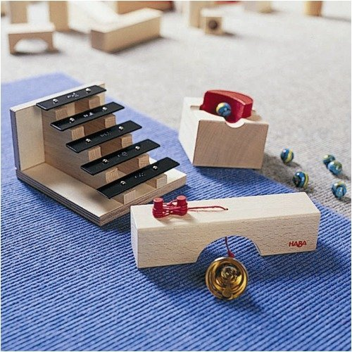 HABA Sound Staircase – Marble Ball Track Accessory (Made in Germany)