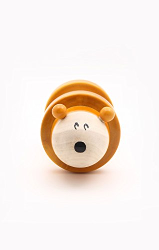 Caravan Chee-Zee: Handcrafted Wooden Mouse Rolling Rattle Toy, Perfect Gift for Toddlers