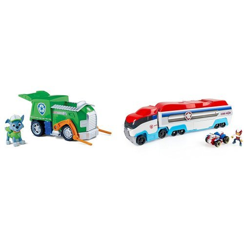 Paw Patrol Rocky's Recycling Truck and Paw Patroller Standard Packaging Bundle