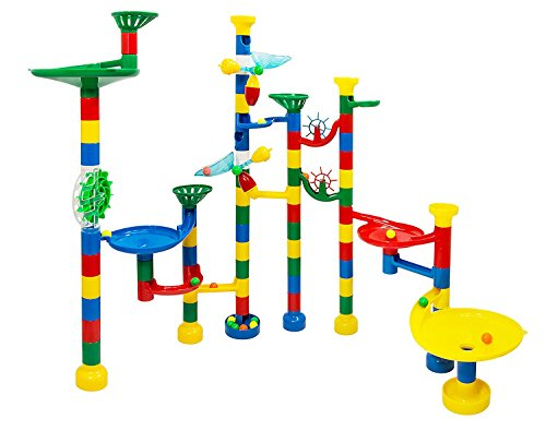 USA Toyz Marble Run – Deluxe 85 Piece Marble Track Game – Plus 50 Marbles