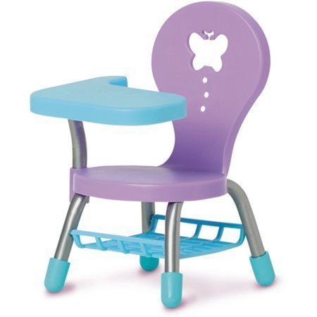 School Chair for the 18″ Doll, Blue and Purple
