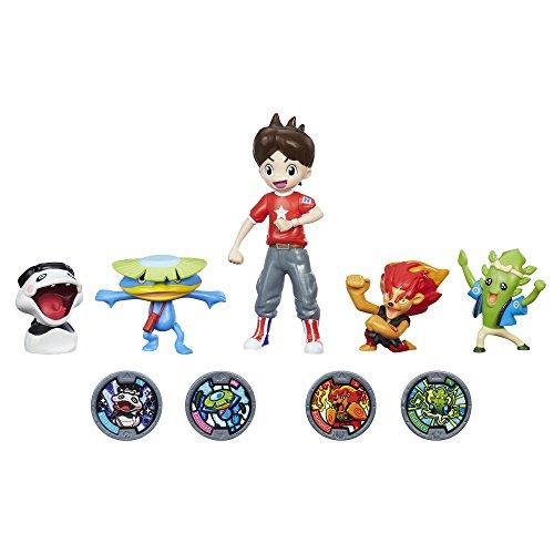 Yo-kai Watch Nate with 4 Yo-kai Figures