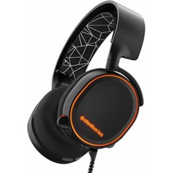 SteelSeries Arctis 5 RGB Illuminated Gaming Headset with DTS Headphone:X 7.1 Surround for PC, PlayStation 4, Xbox One, VR, Android and iOS – Black (Certified Refurbished)