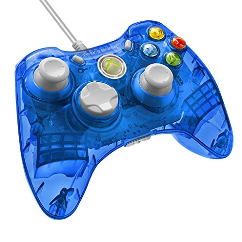 PDP Rock Candy Wired Controller for Xbox 360 – Blueberry Boom