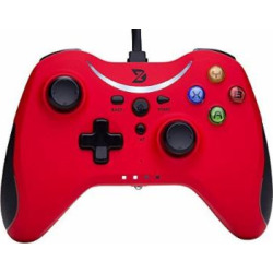 ZD T Gaming wired Gamepad Controller Joystick For PC(Windows XP/7/8/8.1/10) / PlayStation 3 / Android / Steam – Not support the Xbox 360/One[red]