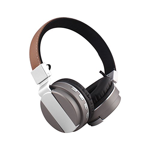 Alltrum Foldable Over-Ear Wireless Headphone,Built-in Mic, Stereo Sound,Lightweight,Comfortable Wearing Feeling,Noise Reduction,SD Card,Wired Modes for Phone / PC / Tablets, Gray