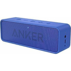 Anker SoundCore Bluetooth Speaker with 24-Hour Playtime, 66-Foot Bluetooth Range & Built-in Mic, Dual-Driver Portable Wireless Speaker with Low Harmonic Distortion and Superior Sound – Blue