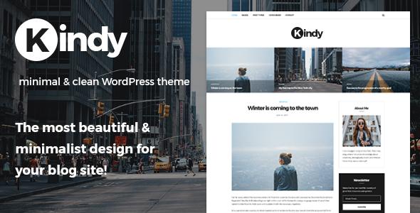 Kindy – Beautiful & Minimalist Blog WordPress Theme