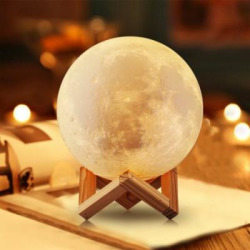 lighting night light led 3d printing moon lamp warm and cool white dimmable -