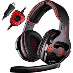 new updated pc gaming headphonessades sa903 usb 71 stereo surround -