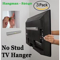 3 pack kit hangman products no stud tv hanger mount tvs up to 55 inch -