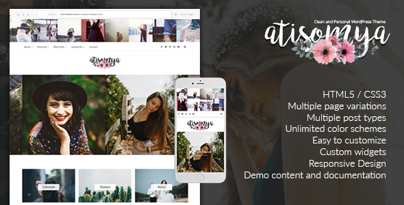 Atisomya – Clean & Personal WordPress Blog Theme