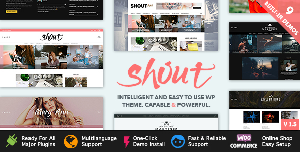 Shout – Blogging WordPress Theme