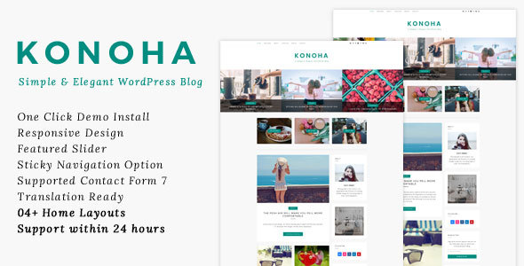 Konoha – A Simple & Elegant WordPress Blog Theme