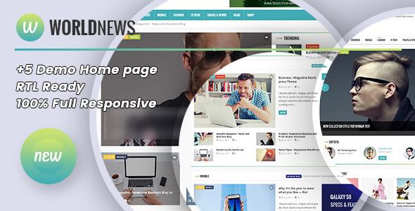 WorldNews – Magazine  RTL Responsive WordPress BlogMagazine