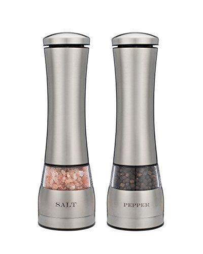 Electric Salt and Pepper Grinder Set of Two Attractive Laser