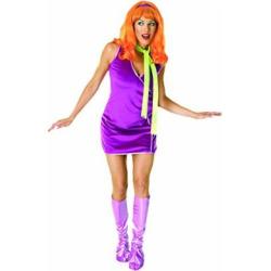 Scooby Doo Deluxe Daphne Costume, Purple, One Size, Purple, Standard Size