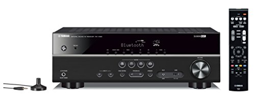 Yamaha RX-V383BL 5.1-Channel 4K Ultra HD AV Receiver with Bluetooth