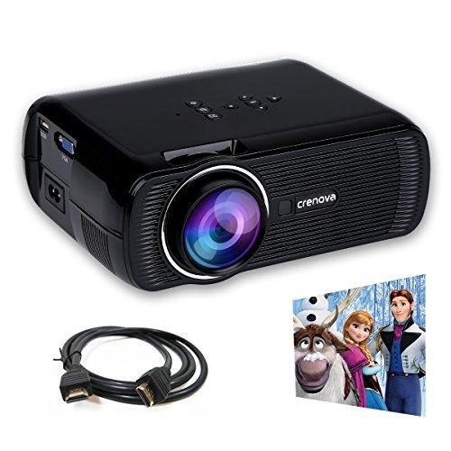 Crenova XPE490 HD, Mini, Portable Video Projector, Black