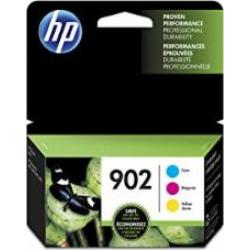 HP 902 Cyan, Magenta & Yellow Original Ink Cartridges, 3 Cartridges (T0A38AN)