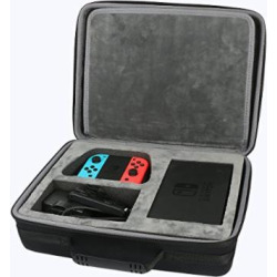 for nintendo switch hard storage case fits joy conpower adapterdockgrip by -