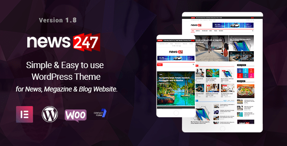 News247 – News Magazine WordPress Theme