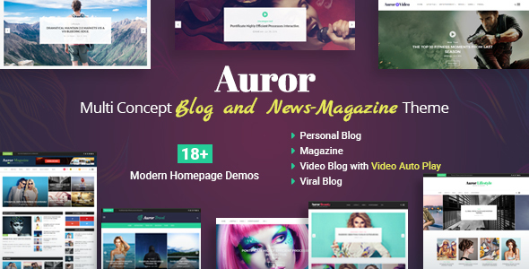 Auror- Blog Magazine WordPress Theme