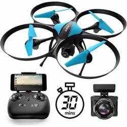 U49W Drone with Camera Live Video – Altitude Hold Headless Mode 15-Min. Flight Wi-Fi FPV Quadcopter