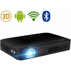WOWOTO T8E Full HD Mini Portable Projector WiFi&Bluetooth Home Theater Projector Support 1080P Max300″ DLP 3D Video Projector Built in Battery 7800mAh Android System For Gaming Business&Education