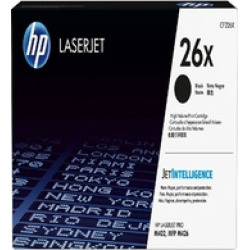 HP 26X (CF226X) Black High Yield Original LaserJet Toner Cartridge