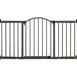 Summer Infant Walk Thru Metal Expansion Baby Gate Extra Tall and Wide, Bronze
