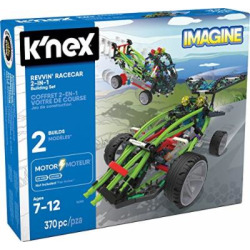 K'NEX – Revvin' Racecar 2-in-1 Building Set – 370 Pieces – Ages 7+ – Engineering Educational Toy