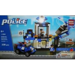 BricTek Building Brick Set #11008 – Police Rescue Team, 330 pieces by BRICTEK BUILDING BLOCKS
