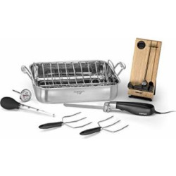 Cuisinart 7117-16EPS Roaster with Electric Knife & Tools, 16″, Stainless Steel