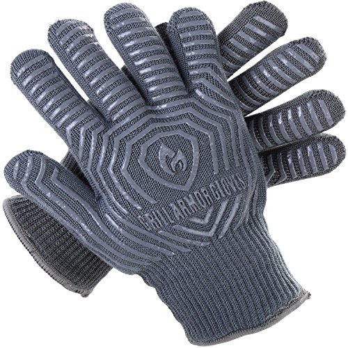 Grill Armor 932F Extreme Heat Resistant Oven Gloves – EN407 Certified BBQ Gloves For Cooking, Grilling, Baking
