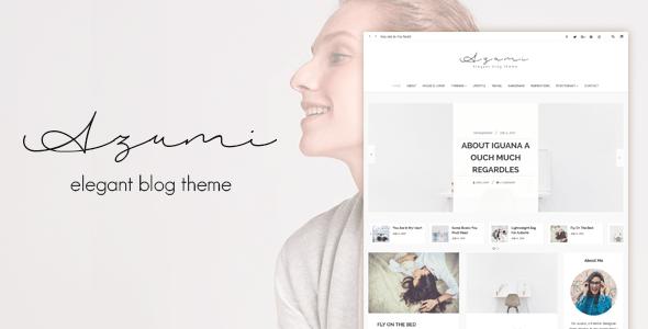 Azumi – Elegant Blog Theme