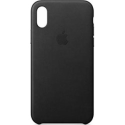 apple iphone x leather case black -