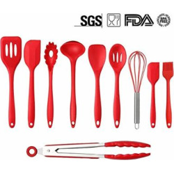 mysj kitchen silicone utensil setheat resistant 446f10piece spatula spoon -
