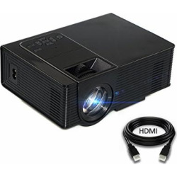LED Video Projector, KUAK Home Theater 1600 Lumens Mini LCD HD Movie Video Projectors Support 1080P HDMI VGA USB TF AV for Home Cinema ,Android TV Box, DVD Player, Smartphone, Laptop, Games (Black)
