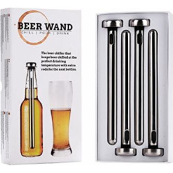 4 x Pack Beer Wand – The Ultimate Beer Chiller & Cooler for bottles. Get your Beer to its optimal temperature and keep it ice cold – no need to remove to drink or pour! Perfect beer gift!