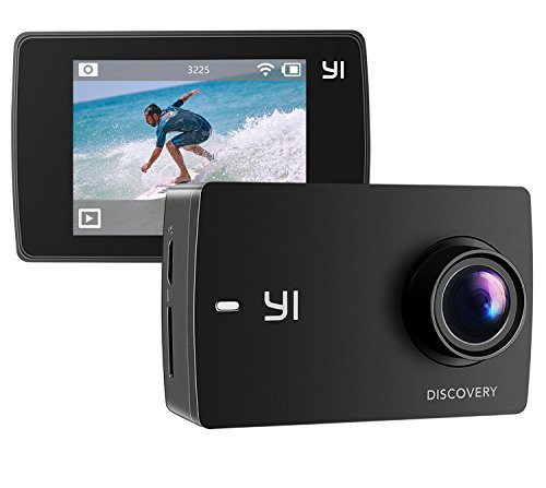 YI Discovery Action Camera, 4K Sports Cam with 2.0″ Touchscreen, Built-in Wi-Fi, 150°Wide Angle, Sony Image Sensor for Underwater, Outdoor Activity