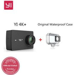 [HK Stock]YI 4K+ Action Camera 2.19″ Retina Touch Screen Ambarella H2 SONY IMX377 12MP 155 Degree Wide Angle Built-in 1400mAh Battery 4K Ultra HD Sports Camera – Black