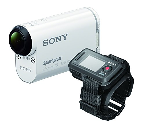 Sony HDR-AS100VR POV Action Video Camera with Live View Remote (White)